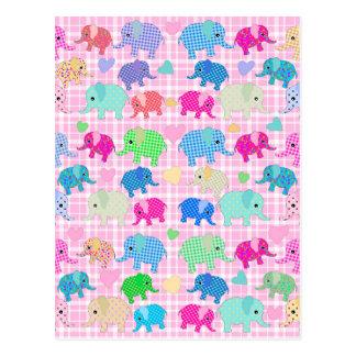 Gulliga elefanter vykort