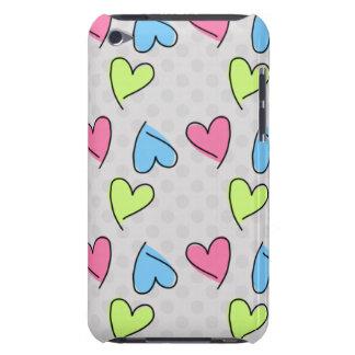 Gulliga färgrika hjärtor iPod Case-Mate fodraler