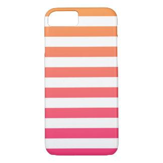 Gulliga färgrika Preppy orange rosa vitrandar