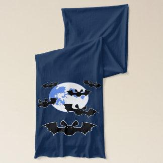 Gulliga fladdermöss och måneScarf Sjal