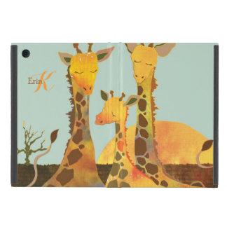 Gulliga för Powis för girafffamiljMonogram fodral iPad Mini Fodraler