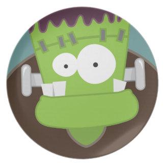 Gulliga Frankensteins gigantiska Halloween Tallrik