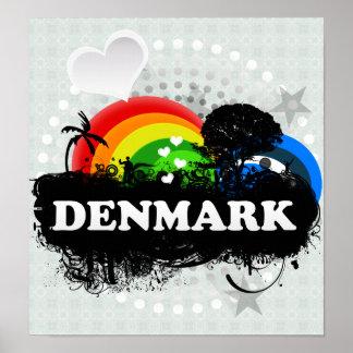 Gulliga fruktiga Danmark Affisch