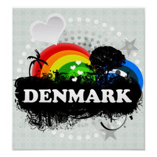 Gulliga fruktiga Danmark Poster