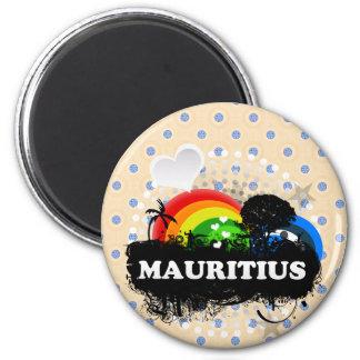 Gulliga fruktiga Mauritius Magnet