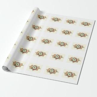 Gulliga grisar med den fyrklövra gåvasjalen presentpapper