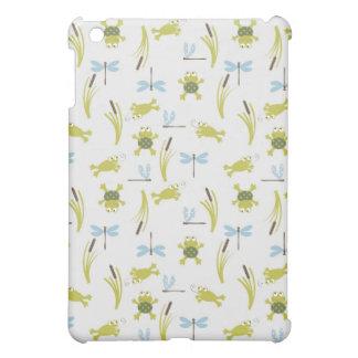 Gulliga grodor och sländatryck med Cattails iPad Mini Mobil Skal