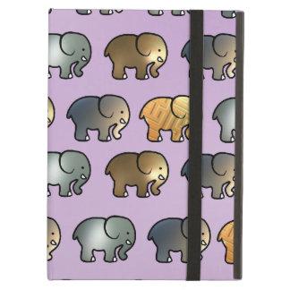 Gulliga guld- och silverelefanter fodral för iPad air