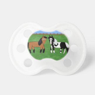 Gulliga hästar napp