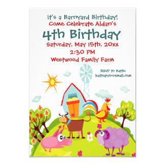 Gulliga inbjudningar för Barnyardboskapfödelsedag
