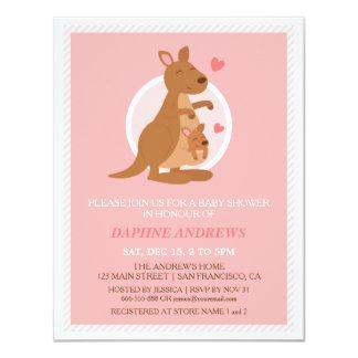 Gulliga inbjudningar för kängurubaby showerparty