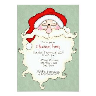 Gulliga inbjudningar för Santa julparty