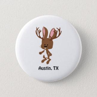 Gulliga Jackalope - Austin, Texas Standard Knapp Rund 5.7 Cm