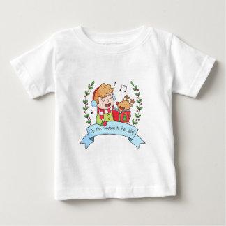 Gulliga julsånger pojke och renutslagsplats tee shirt