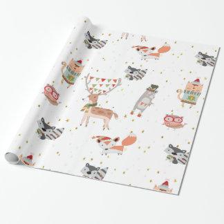 Gulliga julskogsmarkdjur presentpapper