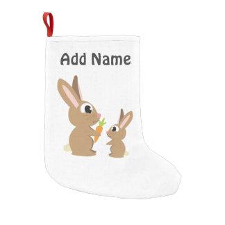 Gulliga kaniner liten julstrumpa