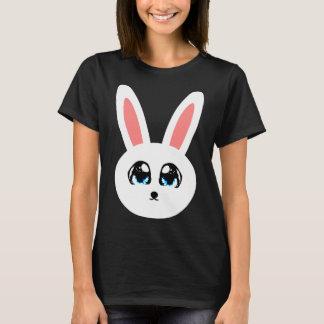 Gulliga kaninkvinna svart T-tröja Tee Shirt