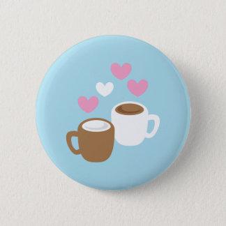 Gulliga kärlekhjärtor för kaffe och för varm chokl standard knapp rund 5.7 cm