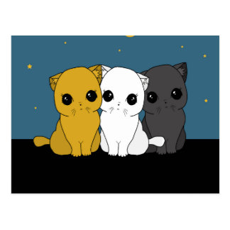 Gulliga katter vykort