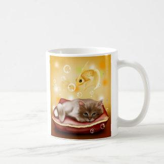 Gulliga kattungedrömmar kaffemugg