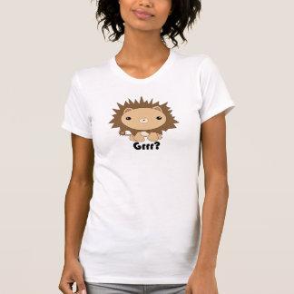Gulliga Kawaii lejona Grrr? T-tröja T Shirt