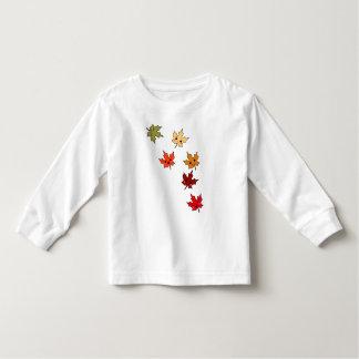 Gulliga Kawaii tecknadlöv T-shirts
