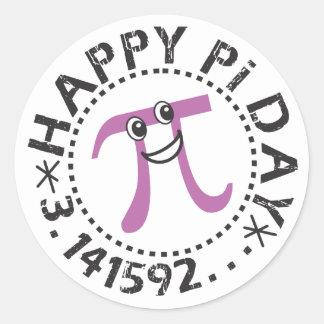 Gulliga klistermärkear för lyckligPi-dag - roliga Runt Klistermärke