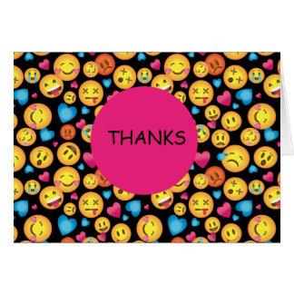 Gulliga kort för Emoji trycktackkort