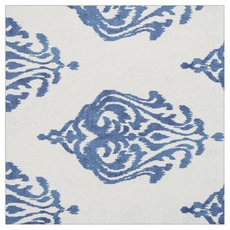 Gulliga mönster för damastast ikat för blått och tyg