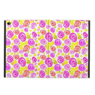 Gulliga mönster för ro för violetgultvår powis iPad air 2 skal