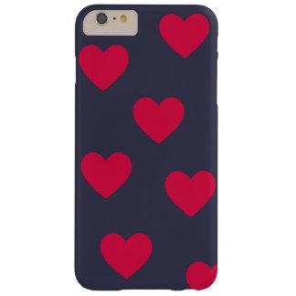 Gulliga och enkla hjärtor barely there iPhone 6 plus skal