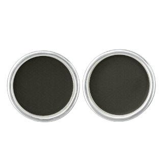 Gulliga örhängen för formgivare: silver och svart cufflinks