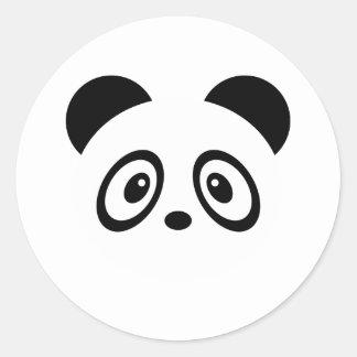 Gulliga Pandaklistermärkear Runt Klistermärke