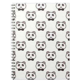 Gulliga Pandas Anteckningsbok Med Spiral