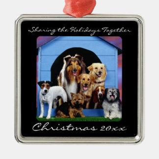 Gulliga prydnadar för personlig för husdjur för julgransprydnad metall