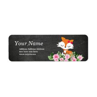 gulliga rävreturadressklistermärkear returadress etikett