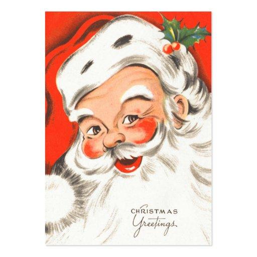 Gulliga Retro Santa namn bricka Visitkort