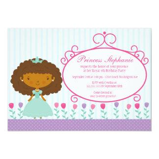 Gulliga roliga princessflicka födelsedagsfest 12,7 x 17,8 cm inbjudningskort