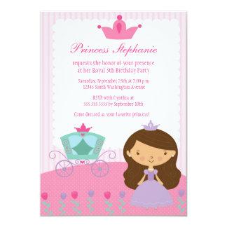 Gulliga roliga princessflicka födelsedagsfest individuella inbjudningskort