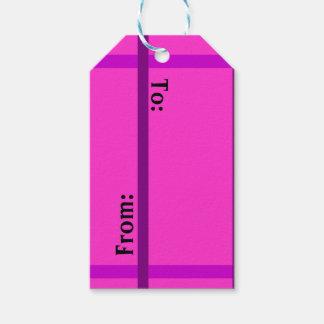 Gulliga rosa gåvamärkre presentetikett