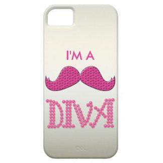 Gulliga rosa Mustache& pryder med pärlor divaen iPhone 5 Case-Mate Fodral