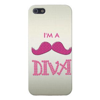 Gulliga rosa Mustache& pryder med pärlor divaen iPhone 5 Skydd