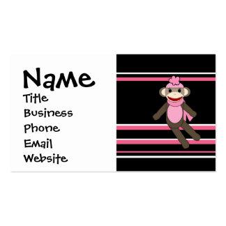 Gulliga rosa randar för hatt för sock set av standard visitkort