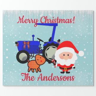 Gulliga Santa, ren och lantgårdtraktor Presentpapper