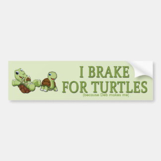 Gulliga sköldpaddor - jag bromsar för sköldpaddor bildekal