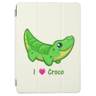 Gulliga ungar för tecknad för krokodilkärlekkawaii iPad air skydd