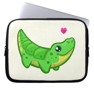 Gulliga ungar för tecknad för krokodilkärlekkawaii laptop sleeve