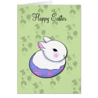 Gulliga välsignelser för påsk för babykaninkanin hälsningskort