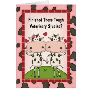 Gulliga veterinär- kor för medicinstudenttecknad kort