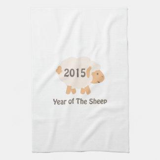Gulligt 2015 år av fårdesignen kökshandduk